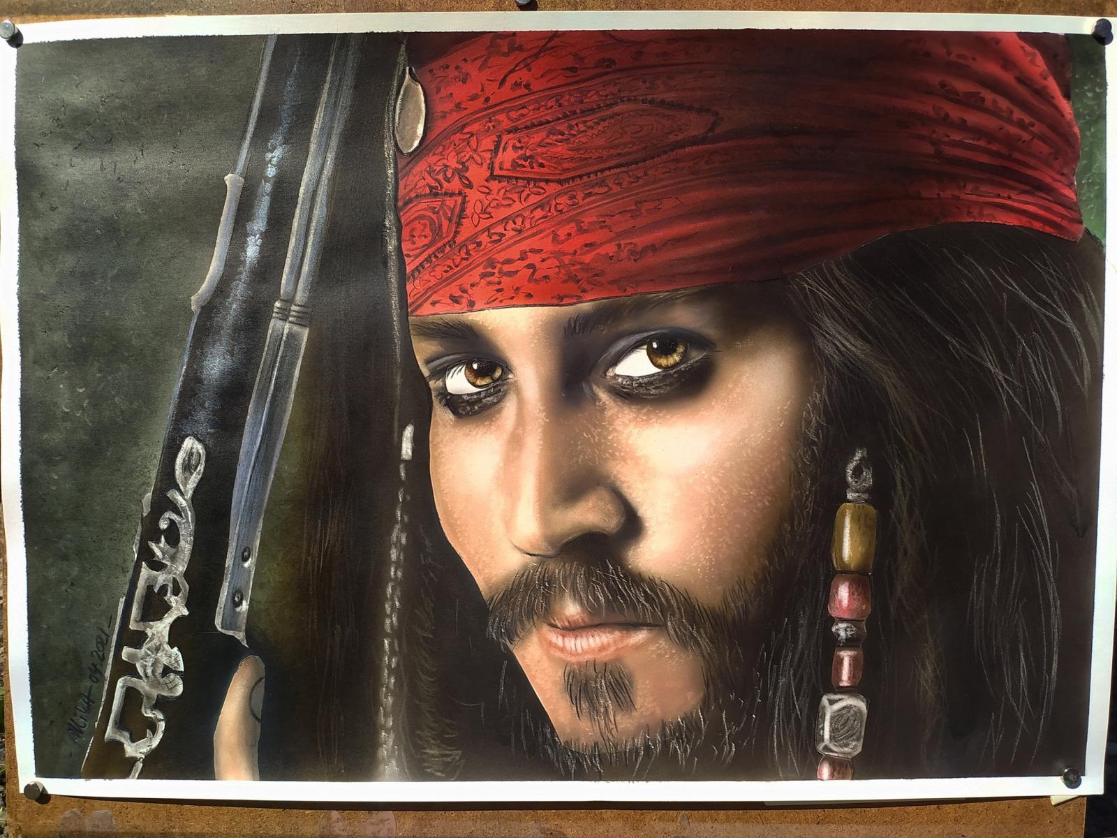 Jack Sparrow Airbrushportrait