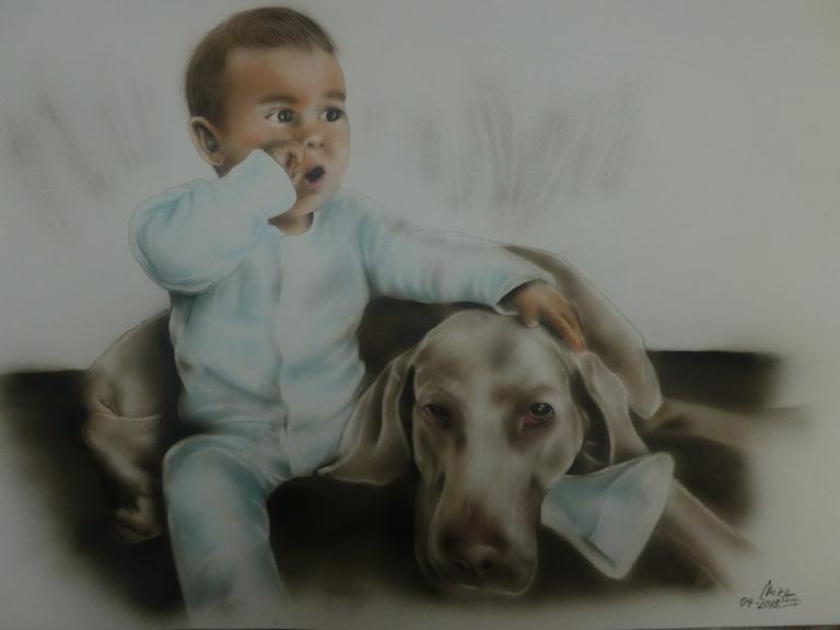Baby-und-Hund